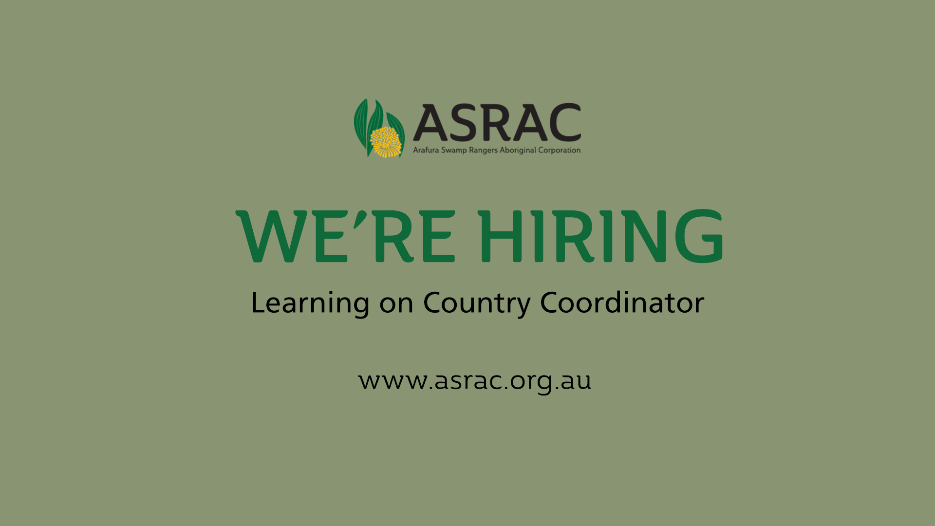 Job Ad: Learning on Country